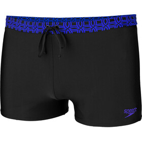 speedo Valmilton Aqua Shorts Heren, black/chroma blue
